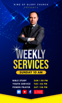 Weekly Church Services Flyer Template US Legal