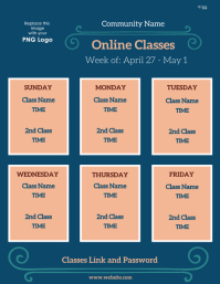 weekly class schedule Flyer (US Letter) template