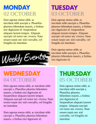 Weekly Events Flyer