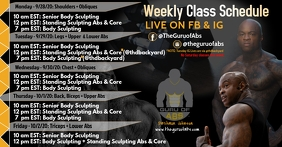 Weekly fitness schedule Facebook Shared Image template