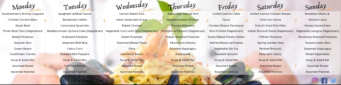 Weekly Menu Banner 2' × 8' template