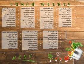 Weekly Menu Ulotka (US Letter) template