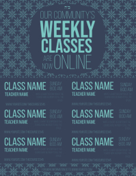 Weekly Online Classes Schedule Flyer (US Letter) template