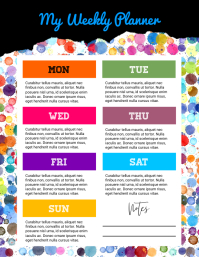 Weekly Planner Flyer template
