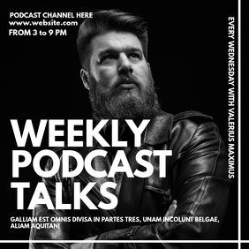 weekly podcast talks black and white instagra