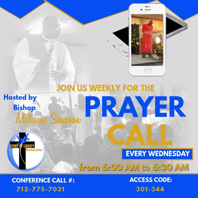 Weekly Prayer Call Promo