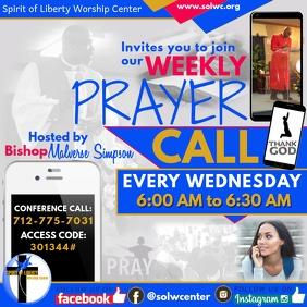 Weekly Prayer Call flyer