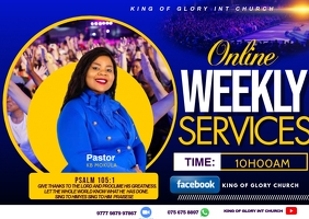 Weekly service flyer