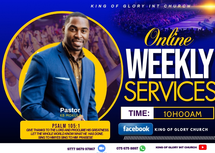 Weekly service flyer Postkort template
