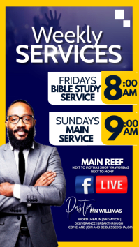 weekly services Flyer Digital Display (9:16) template