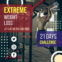 Weight Loss Bootcamp Instagram Post Template