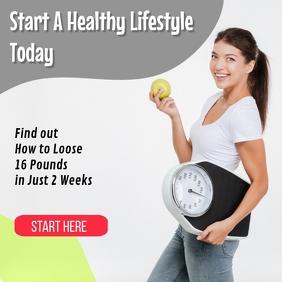 Weight Loss โพสต์บน Instagram template