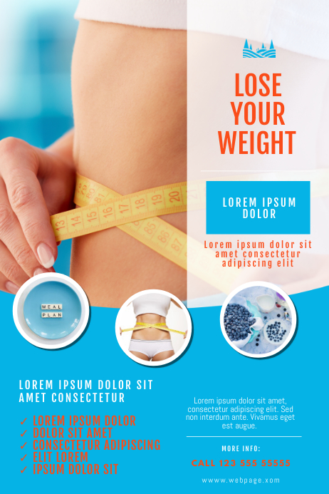 Weight Loss Diet Plan Flyer Template
