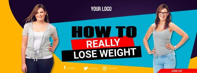Weight Loss Facebook Cover template