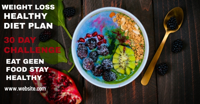 weight loss healthyy diet plan Facebook Ad template
