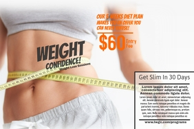 Customize 1 530 fitness poster templates postermywall for Weight loss challenge flyer template
