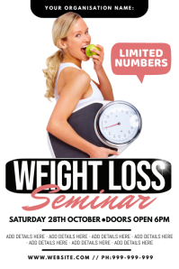Weight Loss Seminar Poster template