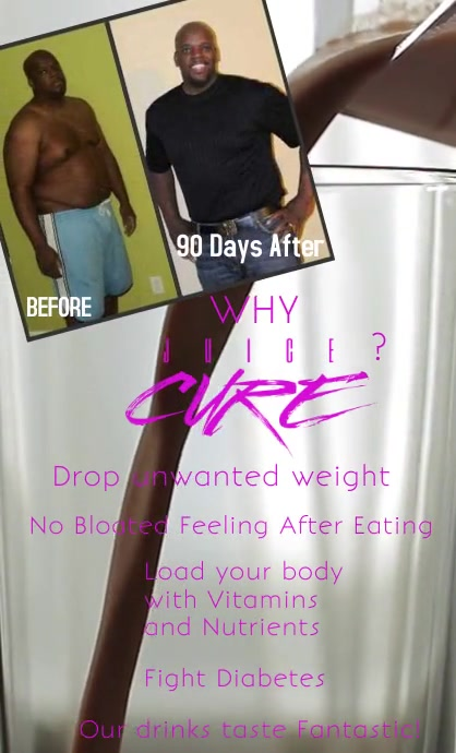 Weight loss Smoothie flyer Legal AS template