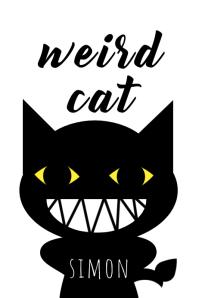 weird cat Simon 海报 template