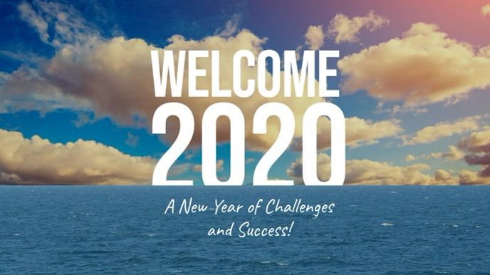 Welcome 2020 New Year video Template | PosterMyWall