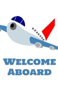 Welcome Aboard Poster template