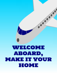 Welcome Aboard Travel poster
