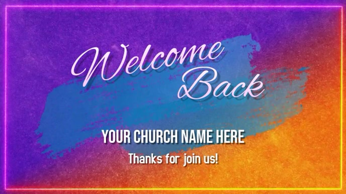 welcome back Pantalla Digital (16:9) template