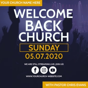 WELCOME BACK HOME CHURCH Template Square (1:1)