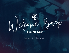 Welcome Back Sunday Flyer (US Letter) template
