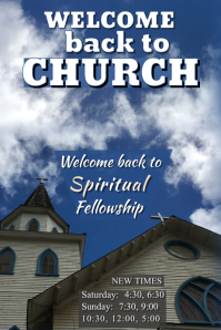 Welcome Back to Church Poster Плакат template