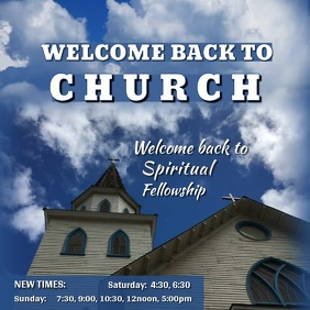 Welcome Back to Church Video