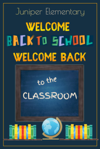 Welcome Back to Class Poster template