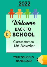 welcome back to school 2021 Løbeseddel (US Letter) template