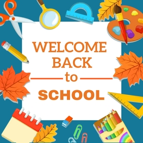 WELCOME BACK TO SCHOOL DESIGN template Logo