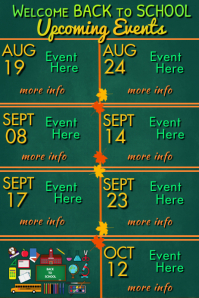 Welcome Back to School Events Póster template