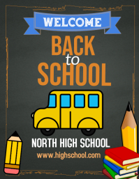 Welcome back to school flyer, back to school
