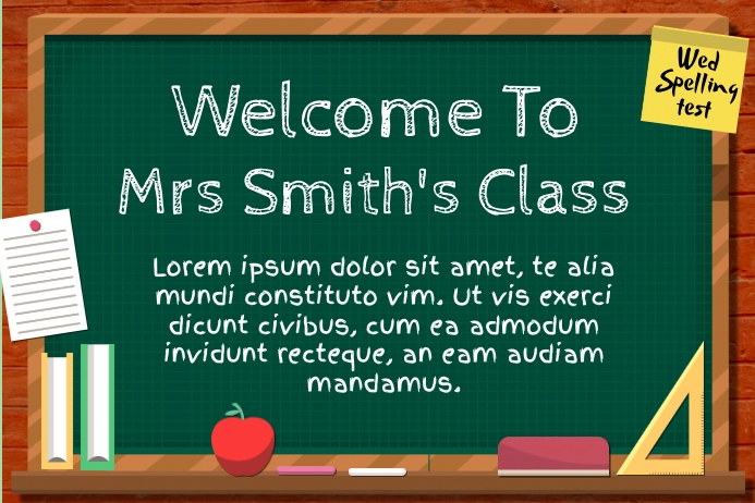 Welcome BackTo School Poster Template