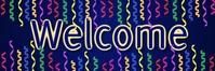 Welcome Banner (Dark) template