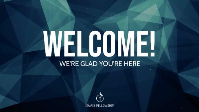 Welcome Banner Digital Display template