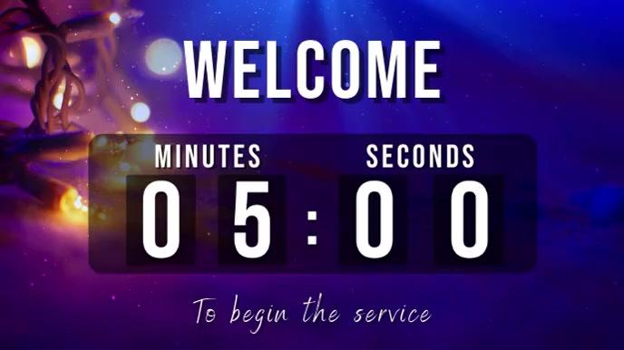 welcome christmas countdown Digitalt display (16:9) template