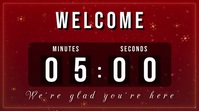 welcome christmas countdown Affichage numérique (16:9) template