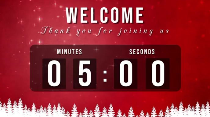 welcome christmas countdown Pantalla Digital (16:9) template