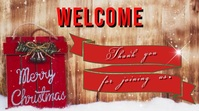 welcome christmas Digital Display (16:9) template