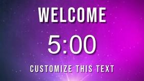 welcome countdown Digital Display (16:9) template
