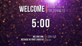 welcome countdown thank you for joining us Digitalanzeige (16:9) template
