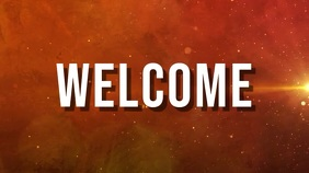 welcome Digital Display (16:9) template