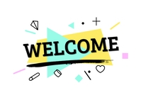 Welcome Postcard template