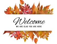 WELCOME Volantino (US Letter) template