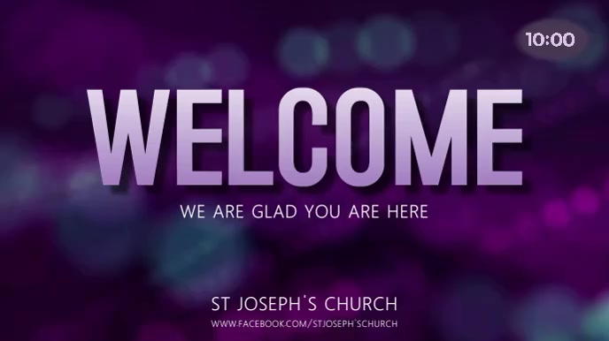 Welcome Digital Display template