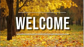 welcome fall Digital Display (16:9) template